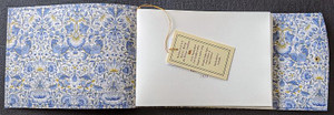 Open Guest Book lined with Liberty of London Lodden Fabric. Hand made in Australia.
