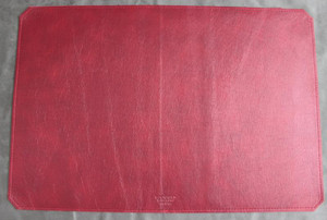 Cherry Red leather Desk Mat - Large Size