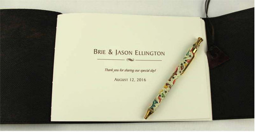 Personalise your Guest Book with a Title page to make it unique.
