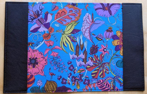 Leather Notebooks lined with beautiful Liberty of London fabrics.  Shown here is Fantasy Land.