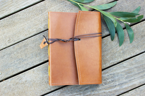 NEW A5 Majestic Leather Journal - Butterscotch