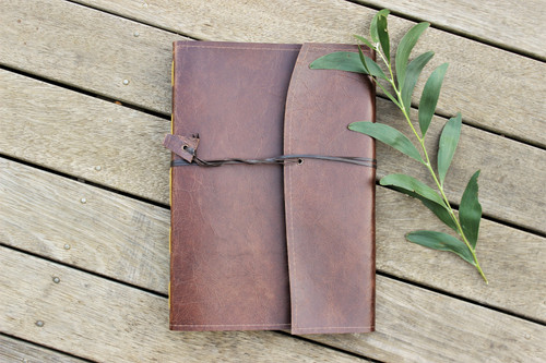 NEW A4 Leather Journal - Oak