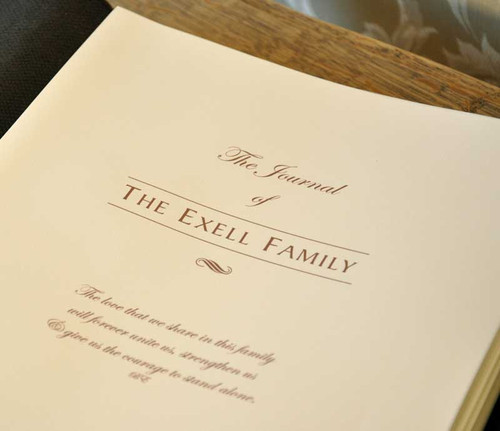 Capture your family stories in a Family Journal especially designed for you. Design your own personalised Title page.