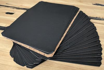 Leather Desk Mats Handmade Group Black