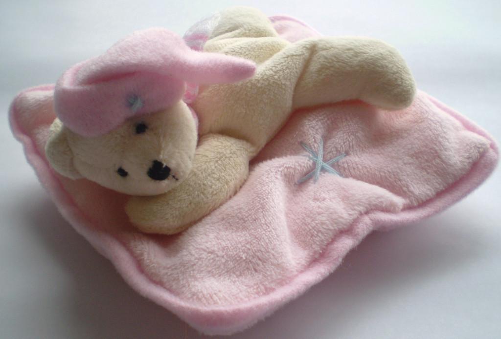 Bear on Pillow - Pink