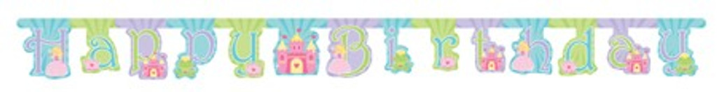 Fairytale Princess  Large Jointed Happy Birthday Banner