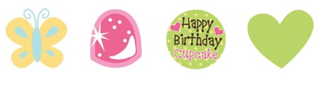 Sweet Treats Cupcakes Cupcake Toppers - Pack of 12