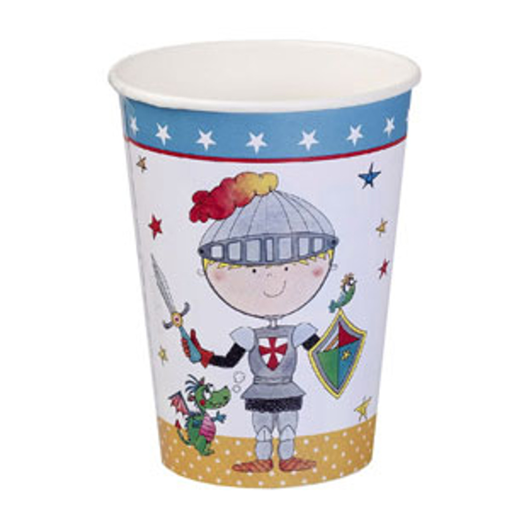 Birthday Knight Paper Cups - 8 Pack