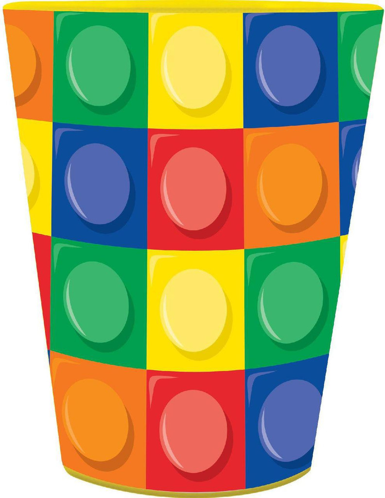 Lego Inspired Block Party Plastic Souvenir Cup