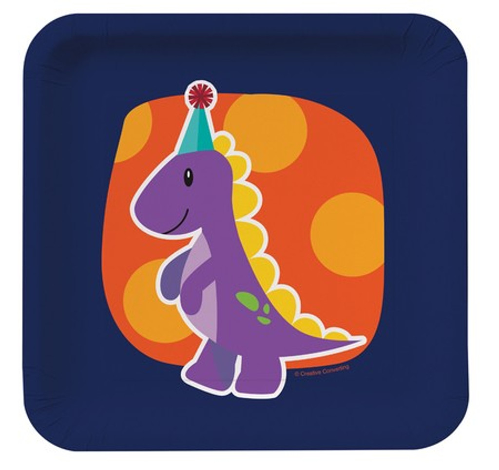 Little Dinosaur Luncheon Plates - 8 Pack