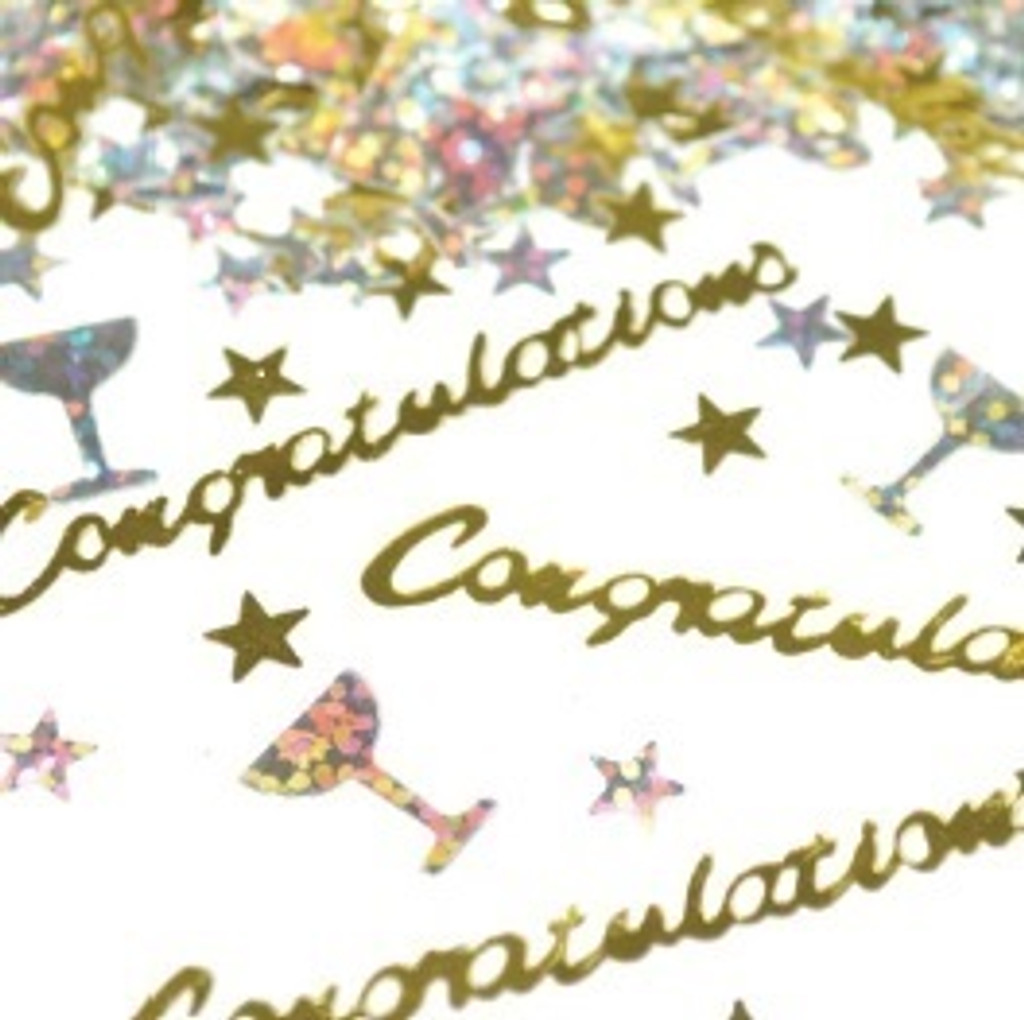Congratulations Sprinkles/Scatters