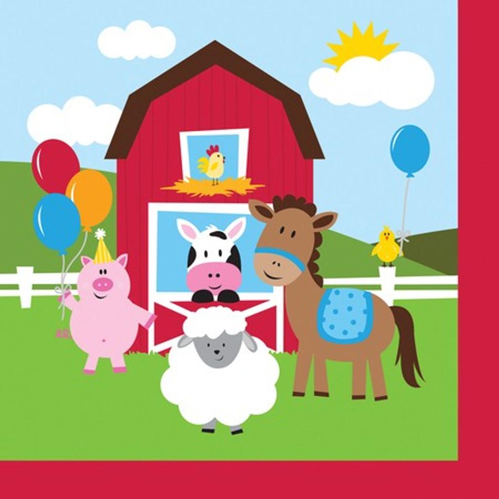 Farmhouse Fun Luncheon Napkins - 18 Pack