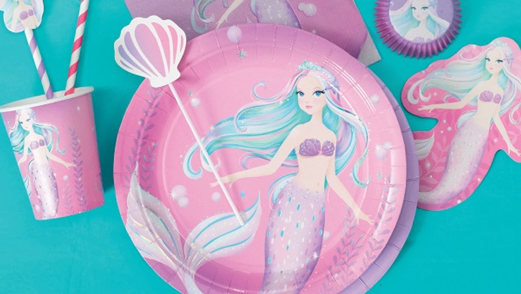 Mermaid Party Invitations with Envelopes - 8 Pack