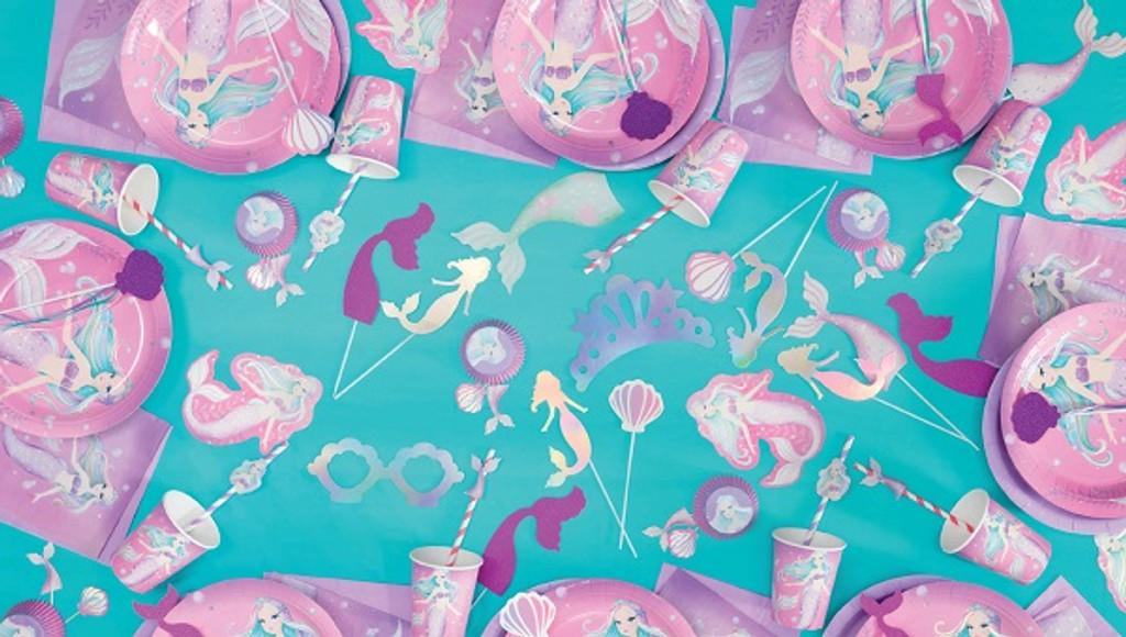 Mermaid Party Loot Bags - 8 Pack