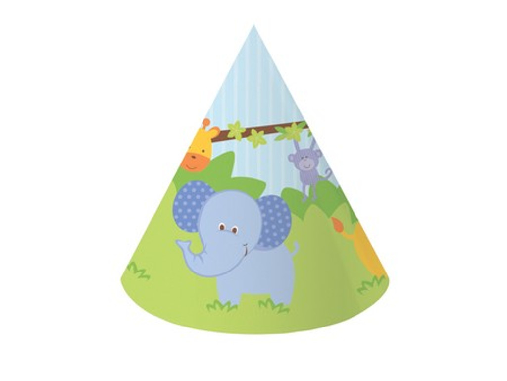 Forest Friends Animals Party Hats - 4 Pack