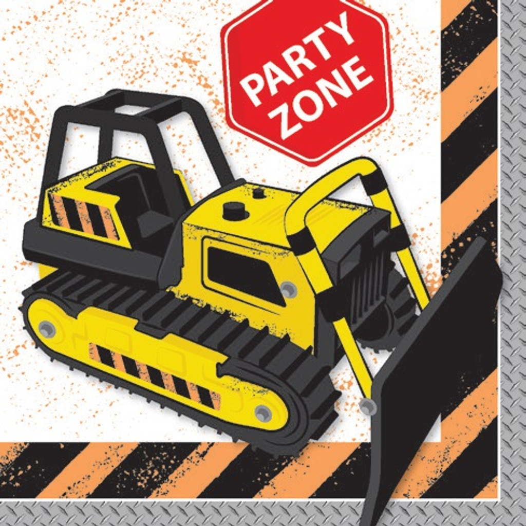 Construction Party Zone Napkins - 20 Pack