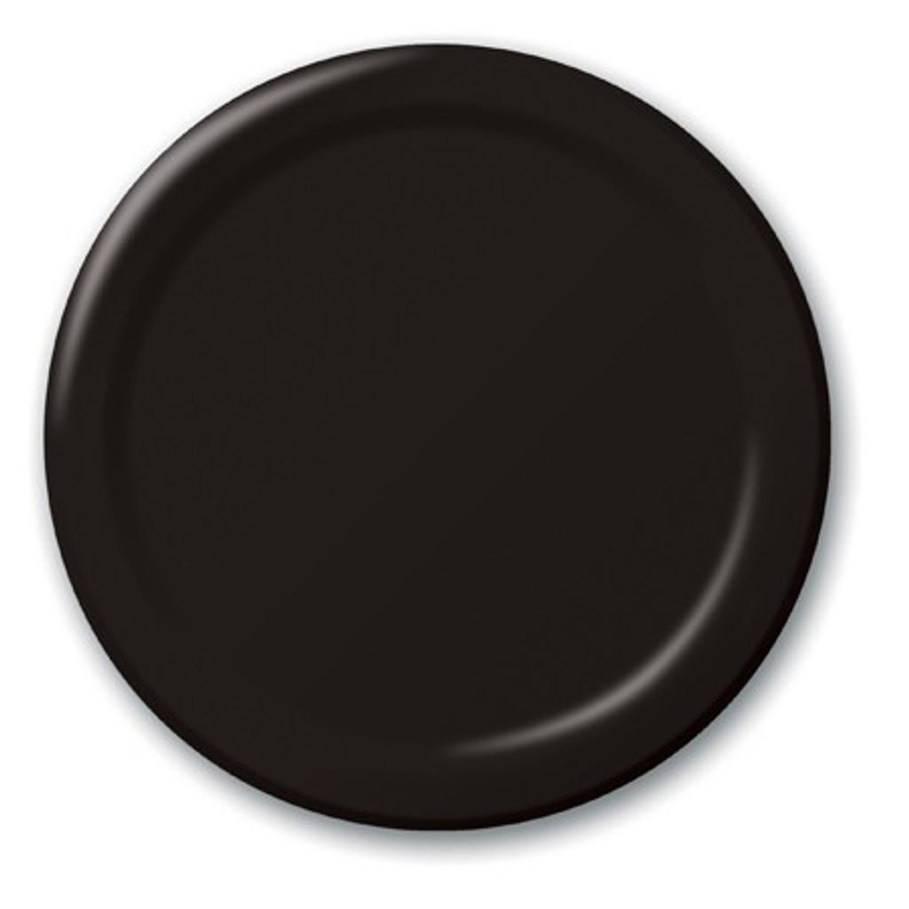 Black Velvet Paper Luncheon Plates - Pack of 24