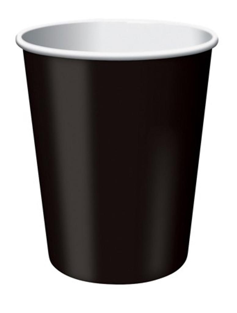 Black Velvet Paper Cups - Pack of 8