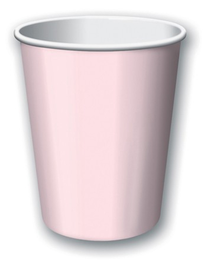 Classic Pink Paper Cups - Pack of 8