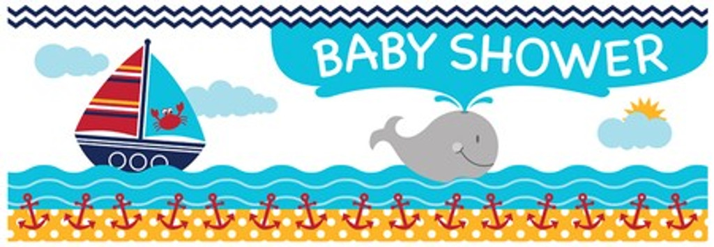Ahoy Matey Giant Baby Shower Banner - 152cm