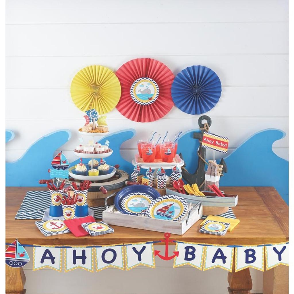 Ahoy Matey Baby Shower Ribbon Banner - 1.7 Metres