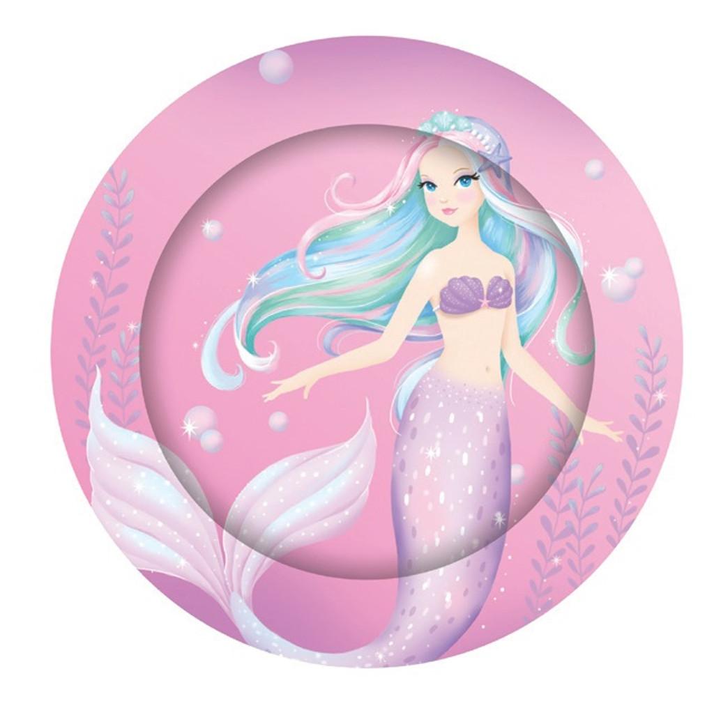 Mermaid Party Dinner  Plates - 8 Pack