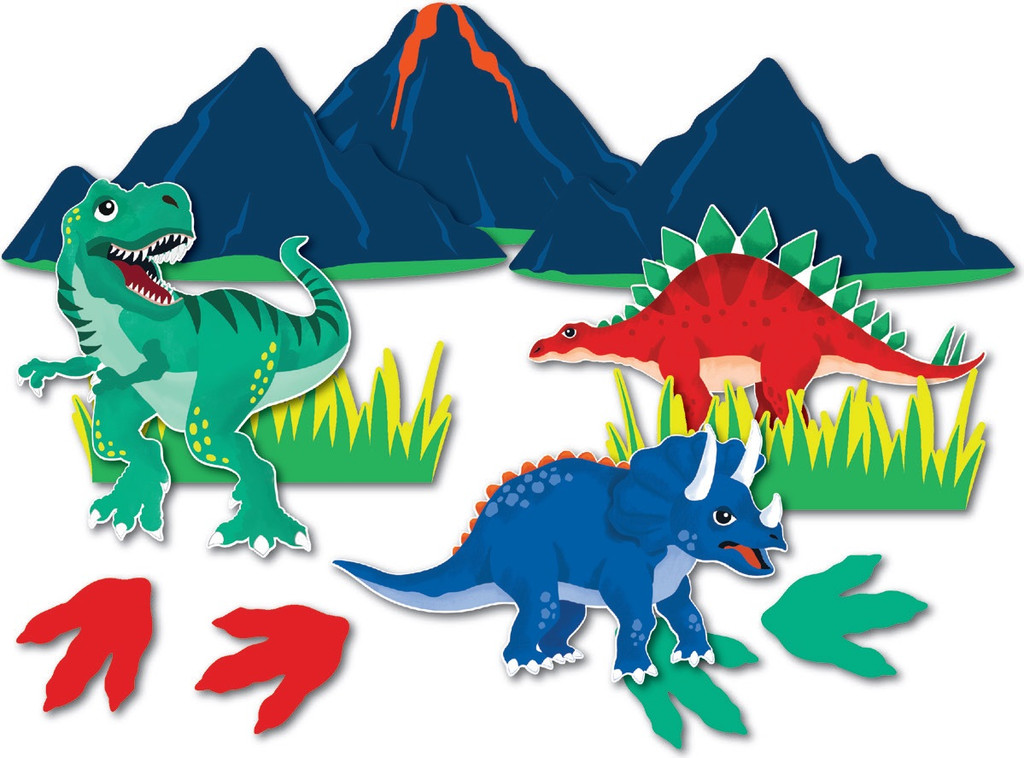 Dinosaur Party Wall Decorations - 12 Pack