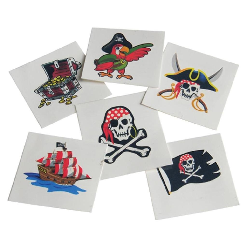 Pirate Tattoos  - Set of 6