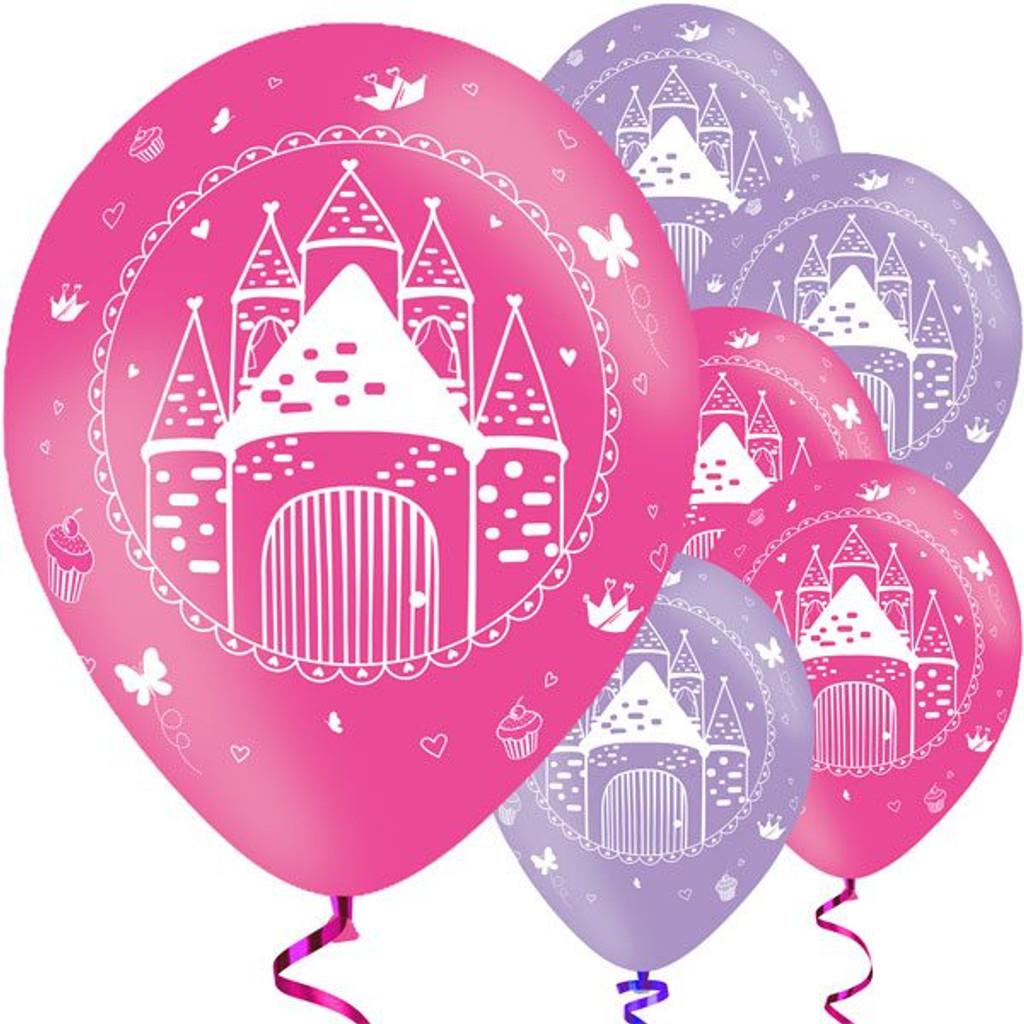 Woodland Princess 27.5 cm Latex Balloons - 6 Pack