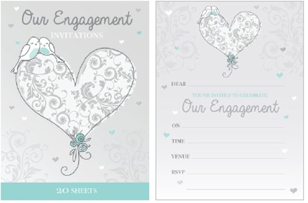 Engagement Padded Invitations - 20 Sheets