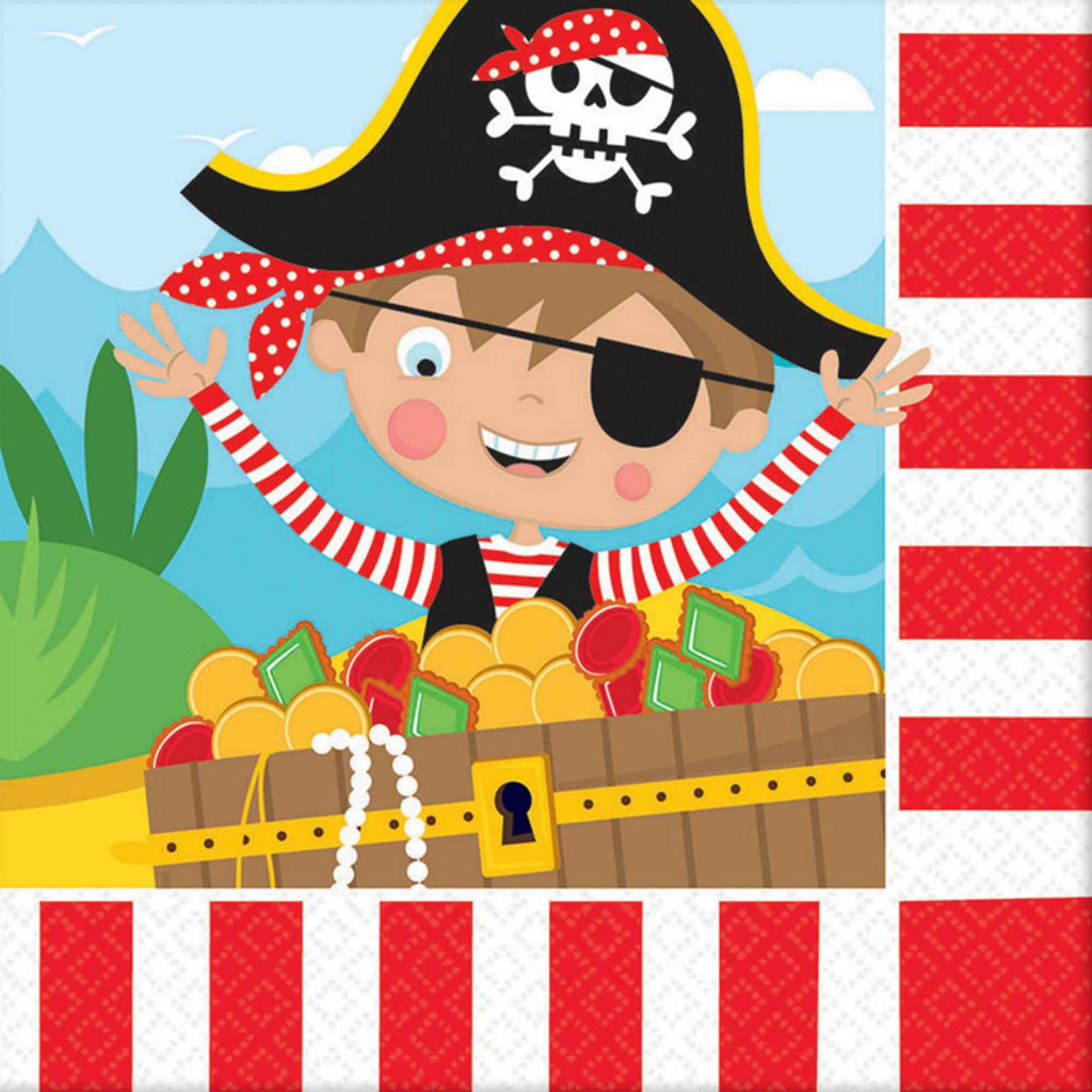 Little Pirate Lunch Napkins - 16 Pack