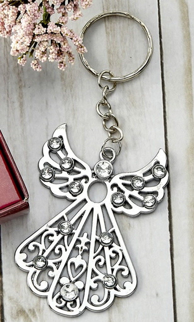 Silver Angel Key Ring