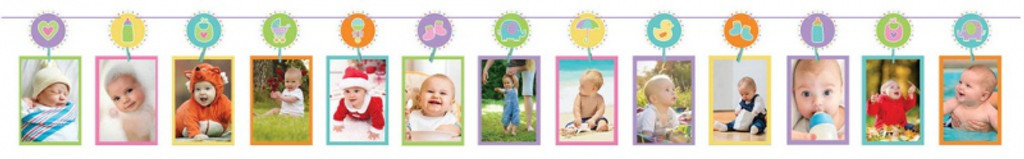 Baby Photo Line with Pegs Garland - Holds 13 Photos