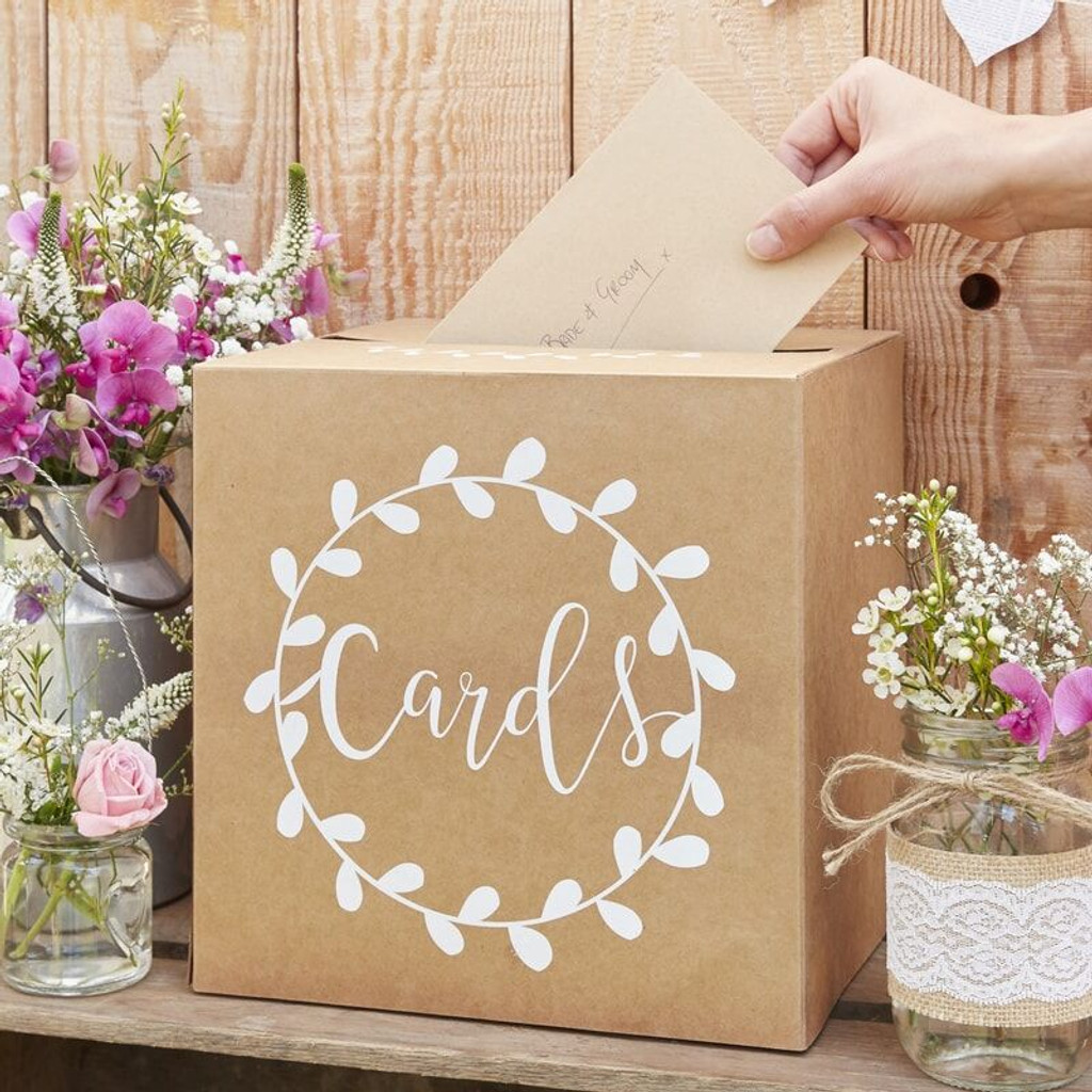 Kraft Card Holder Post Box