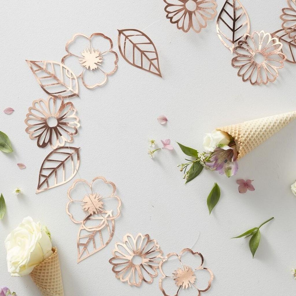 Rose Gold Floral Garland