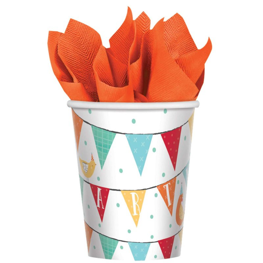 Barnyard Farm Animal Birthday Paper Cups - 8 Pack