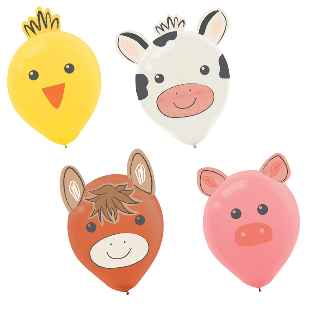 Barnyard Farm Animal Birthday Balloon Kit - 6 Pack