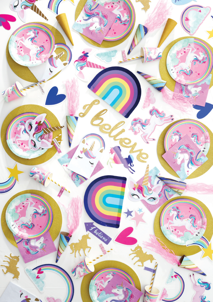 Unicorn Hearts Loot Bags - 8 Pack