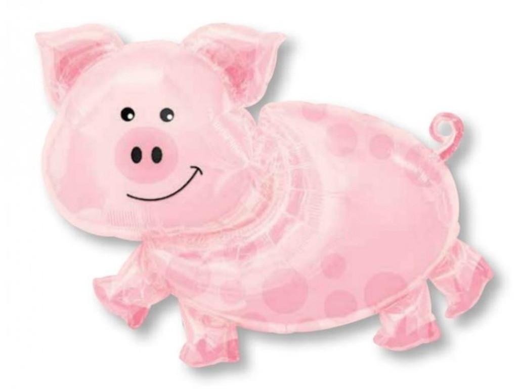 Pig Supershape Foil Balloon - 89cm
