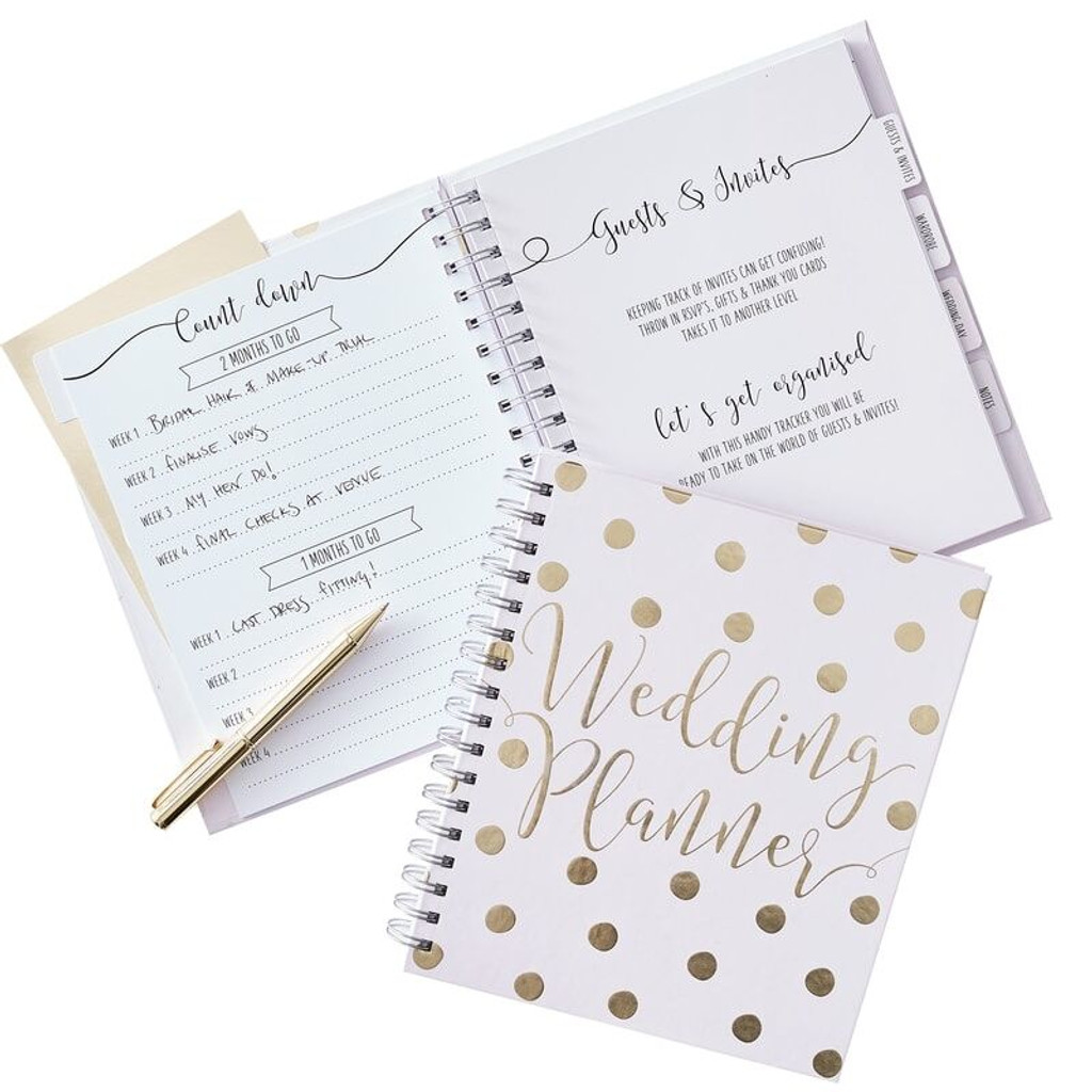 Gold and Pink Wedding Planner