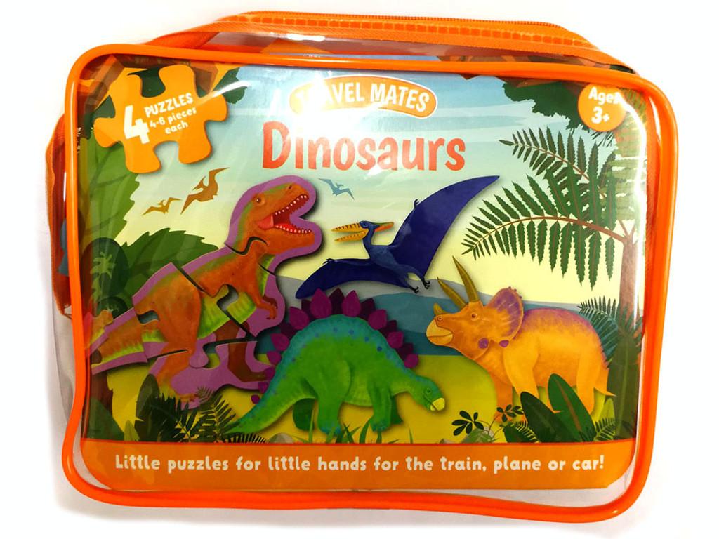 Travel Mates Dinosaurs Puzzles - 4 Puzzles