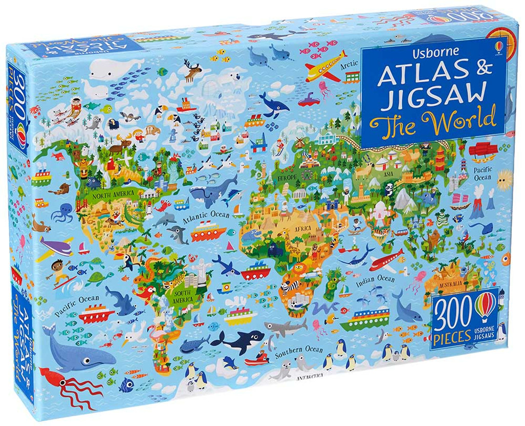 Usborne The World Atlas & Jigsaw