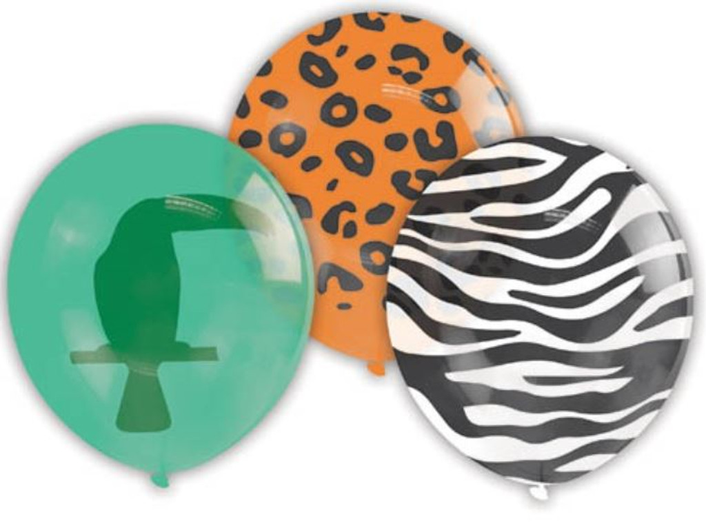 Jungle Party Balloons - 10 Pack