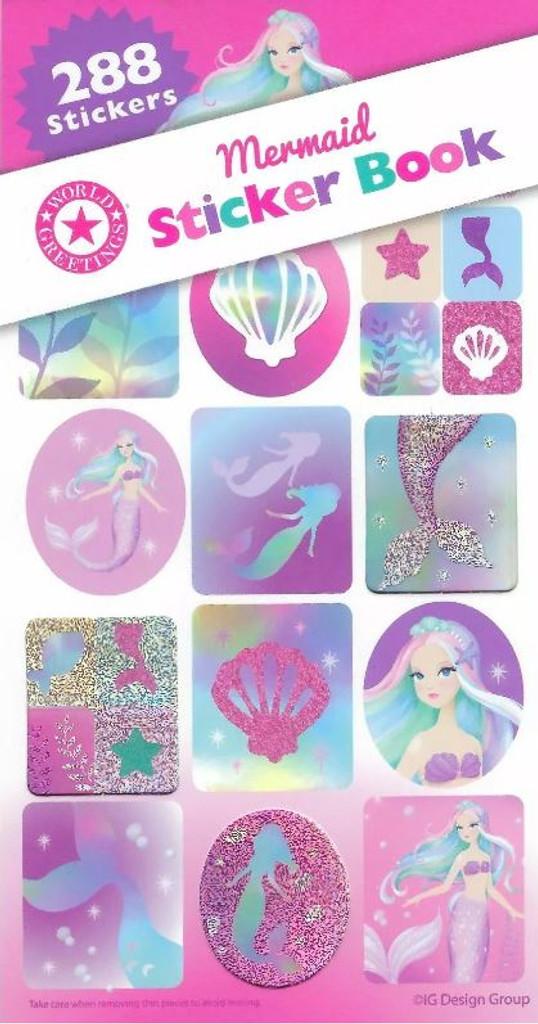 Mermaid Sticker Book -12 Sheets