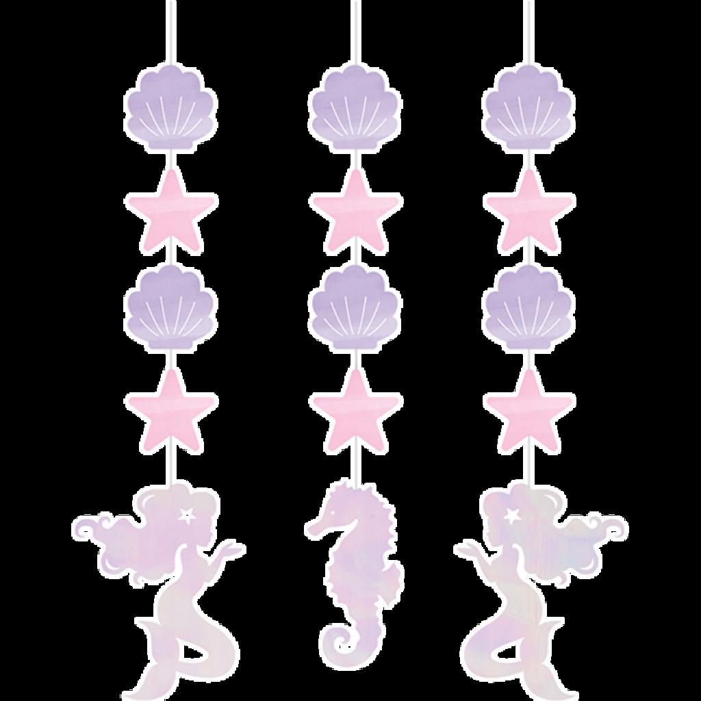 Mermaid Shine Hanging Cutouts - 3 Pack