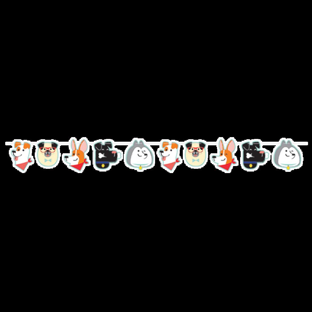Dog Party Shaped Ribbon Banner - 1.92 Metres