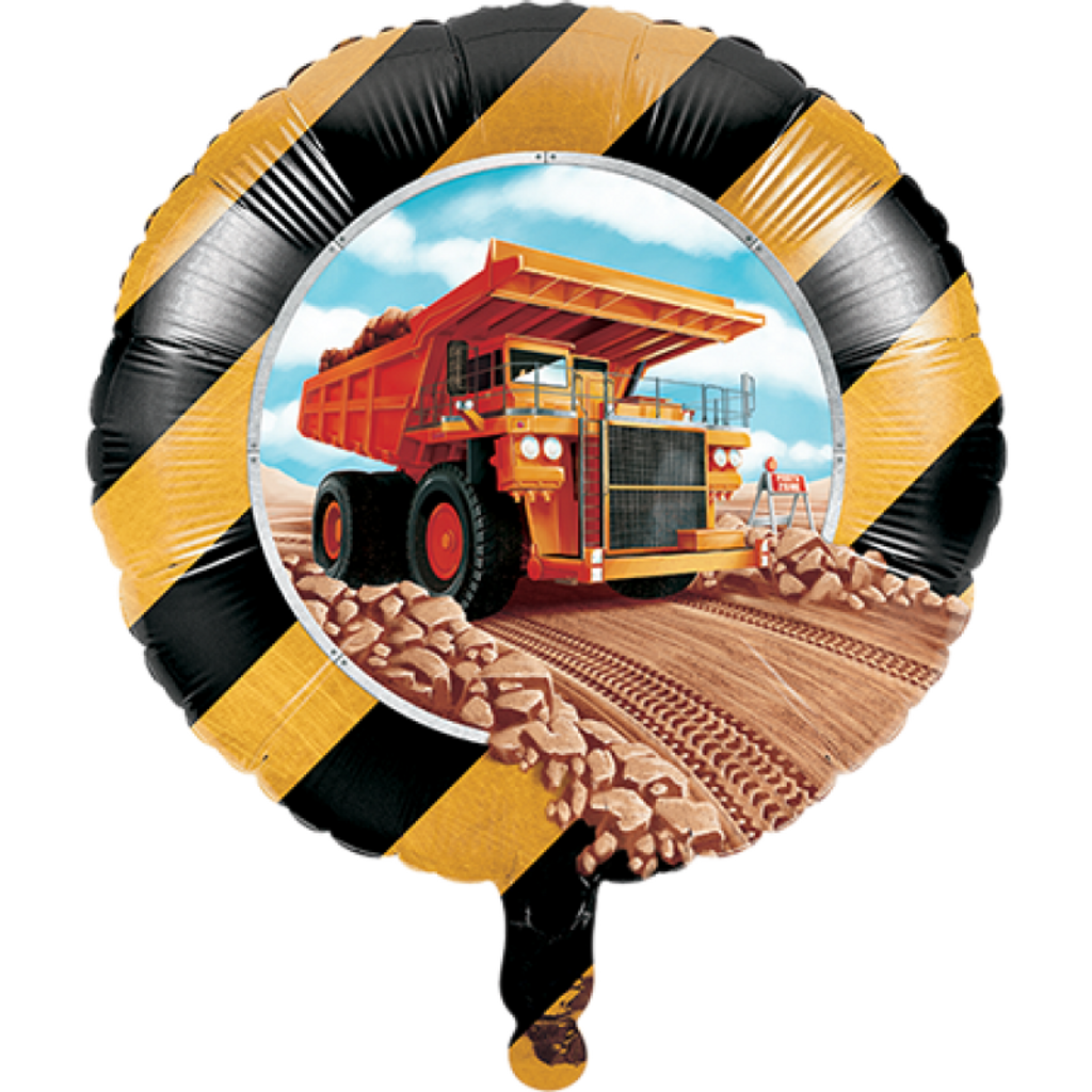 Big Dig Construction 45.7cm Foil Balloon