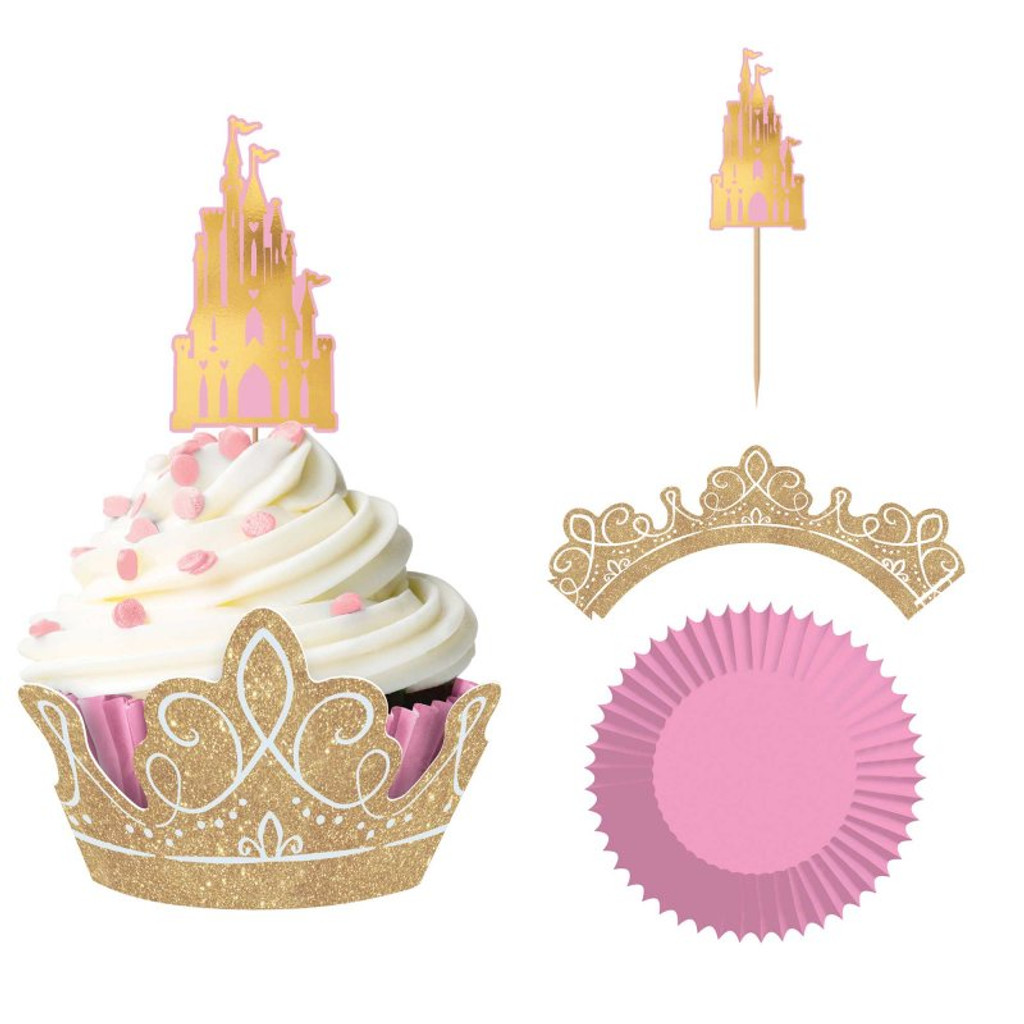 Disney Princess Once Upon a Time Cupcake Kit - 24 Pack