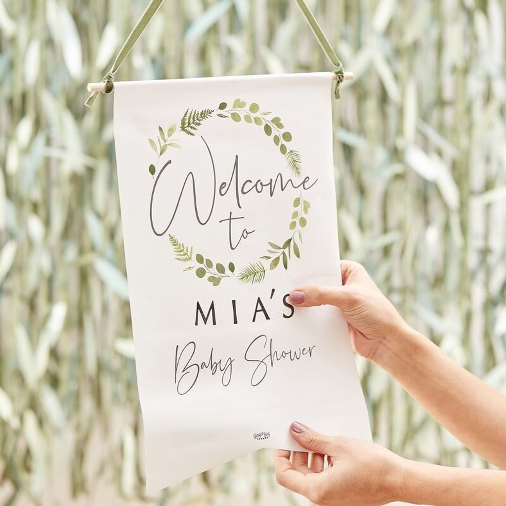Baby Shower Customisable Welcome Sign
