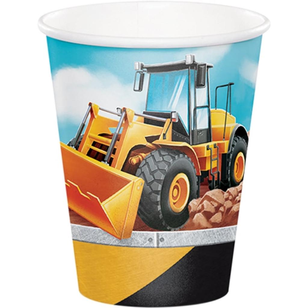 Big Dig Construction Paper Cups - 8 Pack